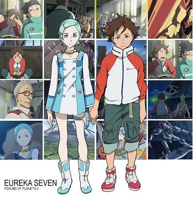 Illustration Eureka Seven : différents personnages