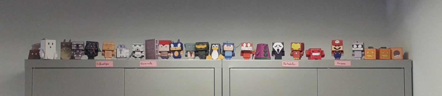 picture with all my papertoy's family