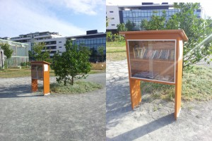 Photos de la Boite à Lire de Bordeaux ou A Free Little Library in France