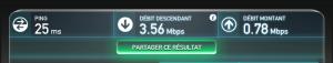 Test de ligne ADSL avec Speedtest