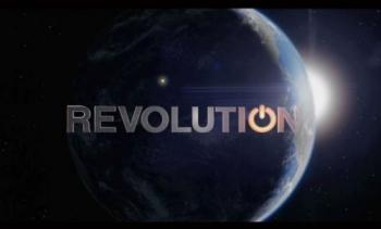 Logo revolutiona vec une planète derrière