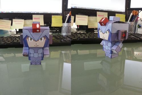 Photos papertoy Megaman