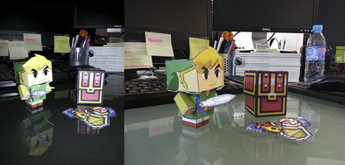 Photos papertoy Link (Zelda)